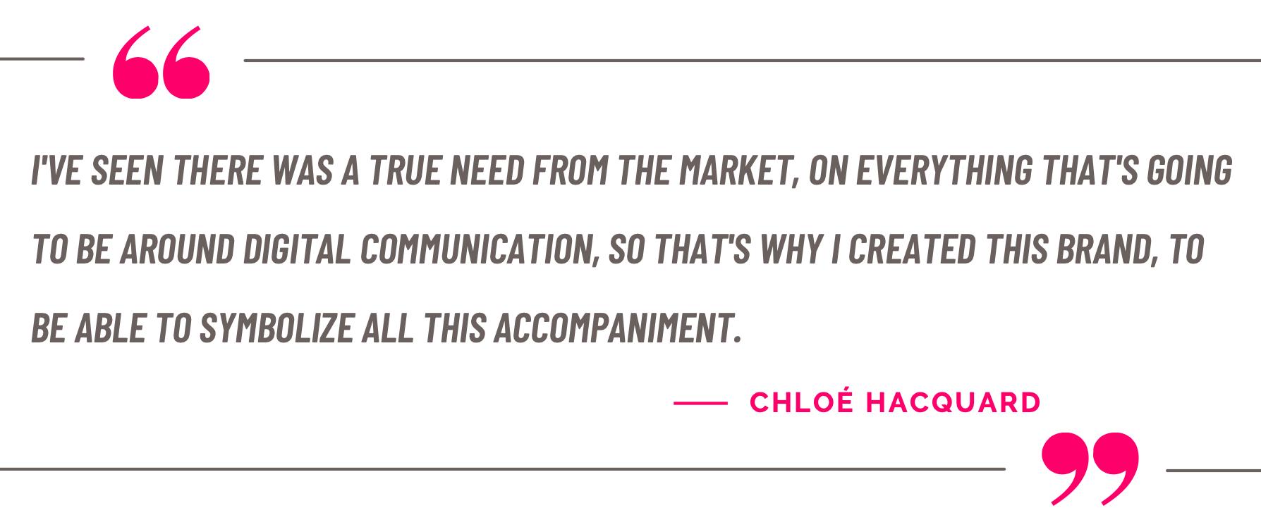 Chloe Hacquard quote